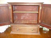 Small Antique medicine chest /cupboard