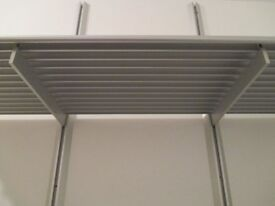 Designer italian adjustable shelving system, made from extruded metal £25 a set.