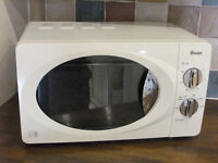 """""""SWAN"""" RETRO STYLE COMPACT MICROWAVE OVEN in CREAM*CAT D 800w*LIKE NEW CONDITION"""