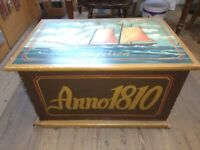 Hand painted blanket box/ toy box