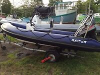 Raider Rib with Mariner 60hp 2-Stroke for Sale