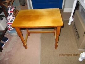 small wooden pine table