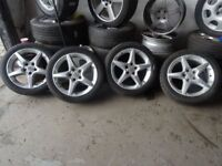 CLEAN SET VAUXHALL PENTA ALLOYS NEW 225 45 17s ALL ROUND £225ono 7-DAYS OPN TILL 6PM *PUNCTURES £8