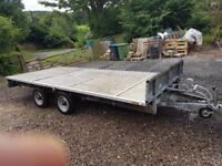 IFOR WILLIAMS LM 146 14'x6'6 flatbed car transport plant trailer