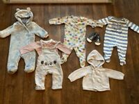 Bundle of baby boy clothes 3-6 months