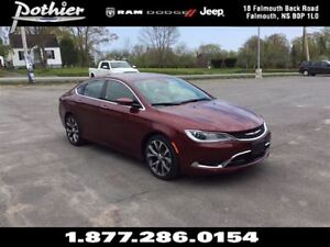 2016 Chrysler 200 C FWD | LEATHER | SUNROOF | HEATED SEATS | BLU