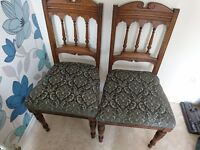 2 solid wood antique chairs