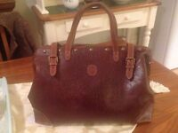 Beautiful Leather Gladstone Bag (vintage)