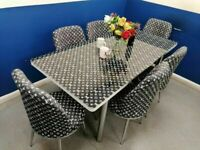 💥💯DISCOUNT SALE🌈 🌈 ON LOUIS VUITTON EXTENDABLE DINING TABLE WITH 6 CHAIRS