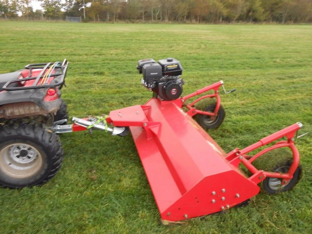 ATV QUAD tow behind FLAIL MOWER 1500mm cutting width 15HP Loncin Engine - QUAD also available