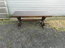 Dark wood pub style coffee table