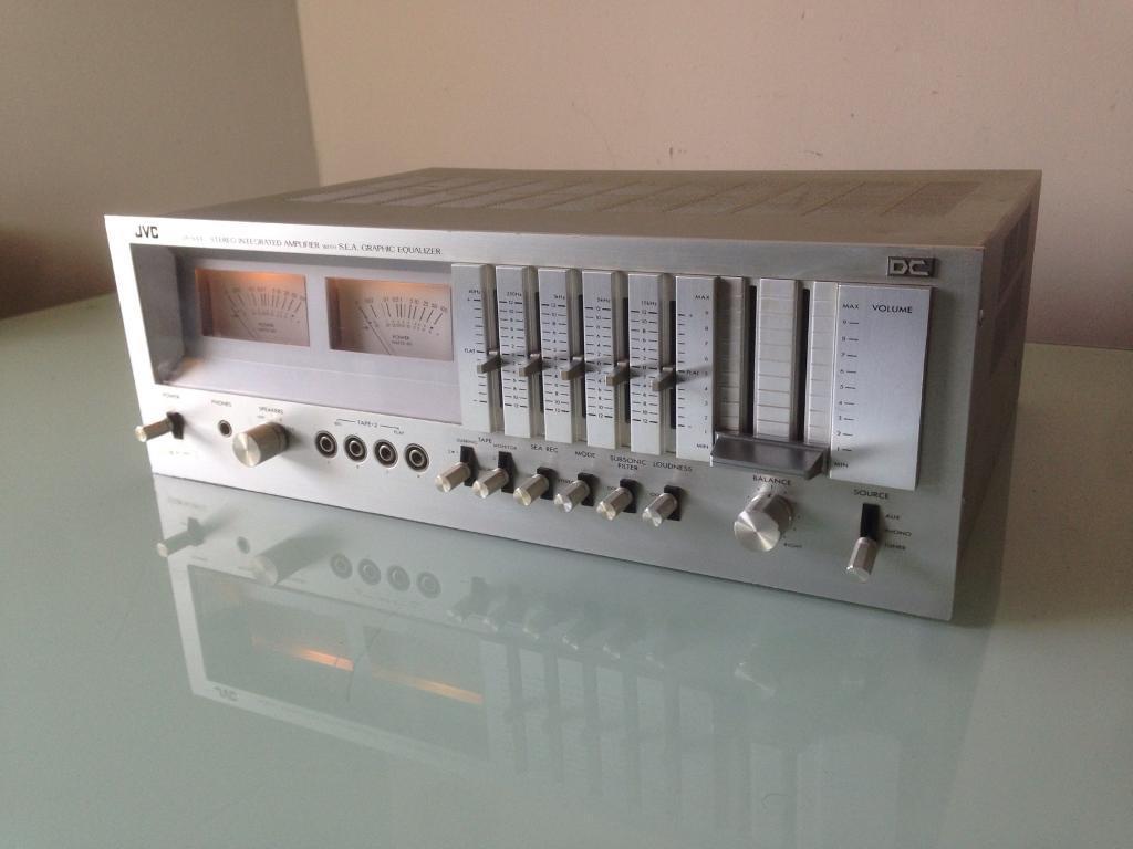 Jvc Ja S44 Vintage Integrated Hifi Amplifier With Vu Meters In Meter For Power Amplifiers