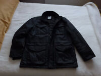 Mens Black Waxed Cotton Jacket £15 ono