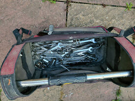 Spanners and tool bag
