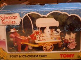 Sylvanian pony and icecream cart