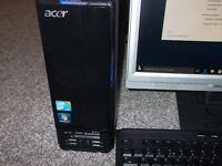 "acer aspire x3812 micro tower quad core,20""screen,wifi."