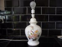 TABLE LAMP - LARGE WITH FLORAL DESIGN