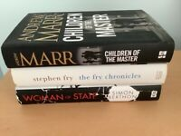 pre owned.H/B books, Woman of State/Fry Chronicles/Children of the Master