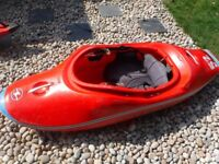 Playboat kayak Wavesport Project 52 modified for larger paddler