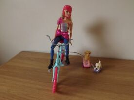 Barbie Doll with Bike and Accessories