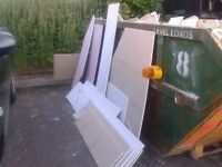 FREE - Selection of new plaster board off-cuts from building project