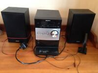 Sony all-in-one Hi-Fi system with CD, Radio and iPod dock