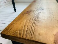 Reclaimed Style Pine Kitchen Dining Table Rustic Farmhouse - Any Size, Any Colour!