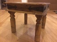 Solid wood indian coffee table