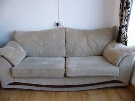 3 seated sofa + 2 seater sofa + footstool set