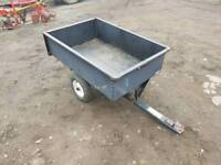 Agri fab ride on lawn mower tipping trailer
