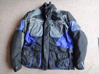 Spyke adventure Motor bike jacket size Large with shoulder elbow and back protection