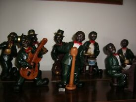 8 jazz band figurines