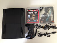 Playstation 3 12GB with two games.