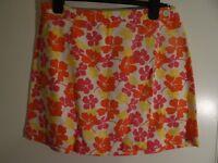 Gap Orange Flowered Wrap Front Skirt Size US 12 / UK 16