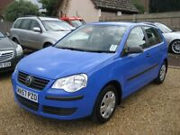 VW Polo 1.2E 5 door hatchback in blue. 2007 with only 2 owners from new. 27,000 miles.