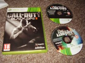 XBOX 360 GAME CALL OF DUTY BLACK OPS ONE AND TWO