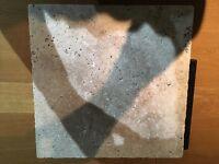 Travatine floor tiles natural stone.