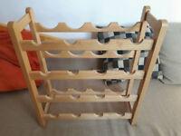 16 bottle wooden wine rack