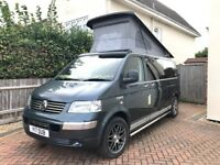 VW T5, Pro Converted Camper van, 2.5L, 174 bhp, LWB, Only 47k miles, Stunning real leather example.