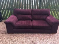 Large (2.1 metres) M&S sofa, plum coloured, in very good condition