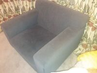Grey single seater chair