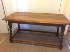 Antique Solid Oak Barley Twist Coffee Table
