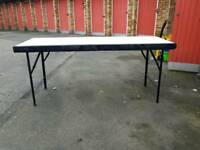 Folding table for home garden and carboots