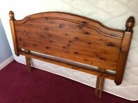Double Bed Wooden Headboard