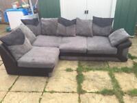 Luxury jumbo corner sofa