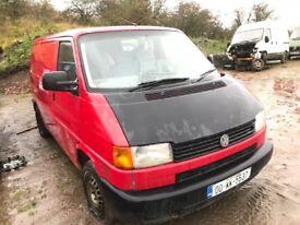 Volkswagen transporter van parts available engine gearbox wheels bumper bonnet door