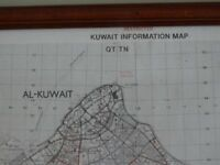 1 Gulf war Kuwait Information map in frame.