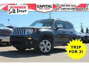 2017 Jeep Renegade LIMITED 4WD LEATHER SUNROOF 18 WHEELS NAV 26K