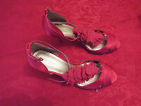Gorgeous Red/Pink Satin shoes Monsoon size 41 New Unused