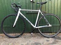 Cinelli Tipo Pista Full Single Speed Retro Fixie Bike - Silver Medium